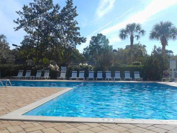 Evian pool